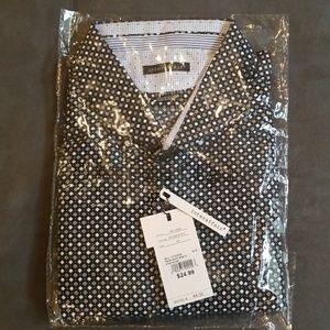 Interaffair Men's Short Sleeve Woven Print Shirt